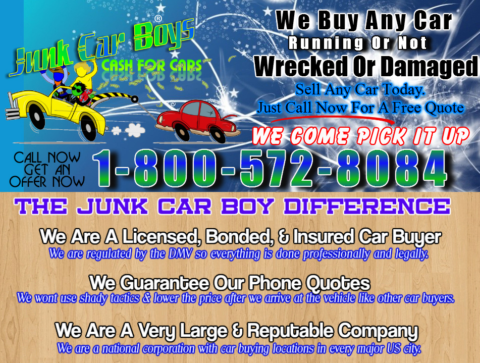 Cash For Cars Plano TX - We Buy All Junk Vehicles That Same Day